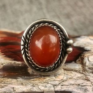 Native American Carnelian Ring